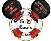 Family~Custom Designed State Room Door Disney Cruise Line Magnets