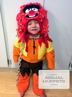 How to make a Animal Muppets costume. Toddler Halloween costume. One Project at a Time - DIY Blog