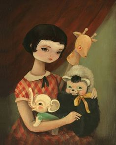 """Emily Winfield Martin  """"Portrait with Prize Toys"""""""