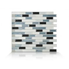 Peel and stick wall tiles that remove with a hairdryer. Want these for my non existent kitchen backsplash