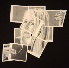 Hockney-style Self Portraits:Drawing  Done this project with photographs, but not drawing.  Can't wait to try it!