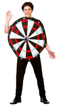Adult Dart Board Costume Fancy Dress Stag Hen Party Sports Fan Dartboard Outfit