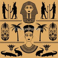 Egyptian decorative patterns