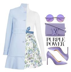 """Purple"" by lilitha-thando ❤ liked on Polyvore featuring Zimmermann, Colette Malouf, RED Valentino, Manolo Blahnik, Louis Vuitton, ZeroUV, purplepower, internationalwomensday and pressforprogress"