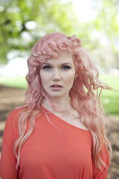 Pastel pink hair - styled by KTIZO Hair & Skin Pastel Pink Hair, Hair Styles, Hair Plait Styles, Hair Looks, Haircut Styles, Hairdos, Hairstyles, Hair Cuts, Haircuts