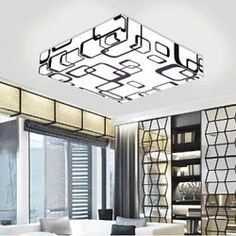 Flush Mount LED Modern/Contemporary Living Room / Bedroom / Dining Room / Study Room/Office PVC
