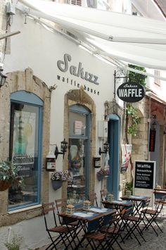 A cafe in Alaçatı