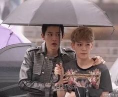 What is it with BaekYeol and umbrellas?