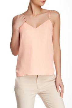 Sleeveless Cowl Back Silk Tank by Haute Hippie on @HauteLook