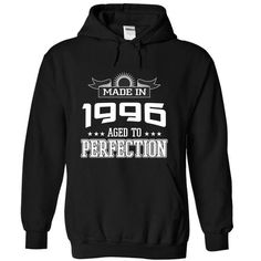 Made in 1996 - Perfection - #graduation gift #housewarming gift. BUY-TODAY  => https://www.sunfrog.com/Automotive/Made-in-1996--Perfection-fwszk-Black-5045556-Hoodie.html?id=60505