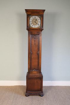 Jacobean revival grandfather clock