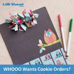 WHOOO Wants to Take Cookie Orders? Now that cookie season is underway, cookie orders are going to be rolling in! Be prepared to write down orders with this super cute owl-inspired clipboard. Girl Scout Crafts, Girl Scout Cookies, Cute Owl, Girl Scouts, Scrapbook Paper, Gift Wrapping, Activities, Clipboard, Rally