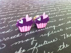 0g Stainless Steel Purple Cupcake Resin Plugs by PlugsByKat, $18.00
