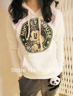 2014 new!! Women Hoodies Sweatshirts Outerwear Hooded Ladies fashion cartoon Coat women clothing free shipping