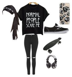 """""""Apple Day outfit"""" by carmentellez-1 on Polyvore featuring interior, interiors, interior design, home, home decor, interior decorating, Topshop, Vans, Casetify and Skullcandy"""