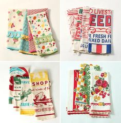 Vintage inspired dish towels...they only ship to the US :O(
