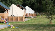 Glamping in Bretagne. Germany And Italy, Bell Tent, Campsite, Travel With Kids, Bed And Breakfast, Where To Go, Glamping, Outdoor Gear, The Good Place