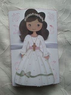 My Sweet Glamour Clay Angel, First Holy Communion, Doll Patterns, Origami, Decoupage, Diy And Crafts, Disney Characters, Fictional Characters, Dolls
