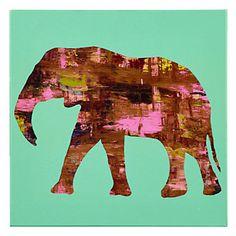 Safari Elephant   Canvas   Art by Type   Art   Z Gallerie