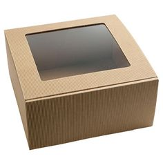 Corrugated with top window. (no handle)