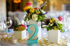 Wedding Table Numbers in Teal Reception Table Numbers, Wooden Table Numbers, Vintage Chic on Etsy, $190.00