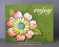 Watercolor Flower Card by Anne Gaal of Gaal Creative at http://www.gaalcreative.com - Feel free to re-pin! ♥