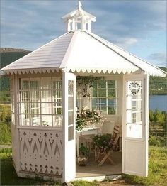 If you have a lot of space in your garden than having a gazebo can be great choice. Gazebo is a perfect place where you can enjoy with your family when Diy Pergola, Pergola Design, Pergola Kits, Outdoor Rooms, Outdoor Gardens, Outdoor Living, Garden Structures, Outdoor Structures, Gazebos