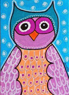 Owl with cap