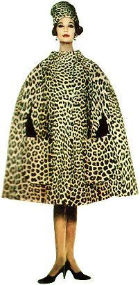 Vintage leopard print cape and hat : perfect look!