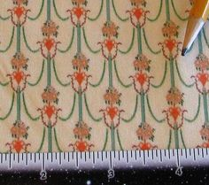 Dollhouse Miniature Victorian UPHOLSTERY FABRIC Art by SydneyStyle