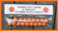 Basketball Treat Bag Toppers