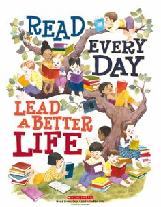 """Children's book illustrator LeUyen Pham shared with us her artistic interpretation of """"Read Every Day. Lead a Better Life."""" Click to download the artwork (for free!) and discover Common Core-ready companion resources and video. #readeveryday #art"""