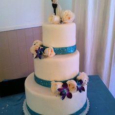 Gâteau de mariage à jacinthe et stephane
