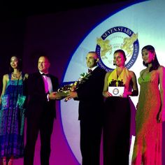 Thanos Liontos, Luxury Panel Member at Seven Stars   Luxury Hospitality and Lifestyle Awards,   Presenting the Signum Virtutis, the Seal of Excellence to   Mr. Alexander Jovanovic General Manager at The Trans   Resort Bali for 2015