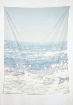 Ocean and Wishin' Tapestry. Put your longing for the wash of waves at ease with this oceanic tapestry by Lisa Argyropoulos for DENY Designs. #multi #modcloth