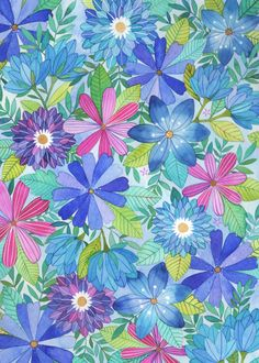 Floral Pattern by Ana Victoria Calderon