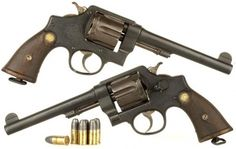 Indiana Jones gun used in Raiders of the Lost Ark Unmodified Smith & Wesson Revolver (Military issue with smooth grips) - ACP: