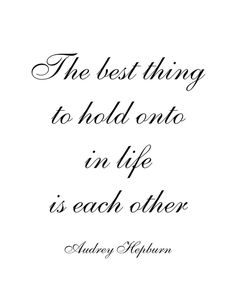 Soulmate Quotes : QUOTATION – Image : As the quote says – Description The best thing in life to hold onto is each other! - #Soulmate
