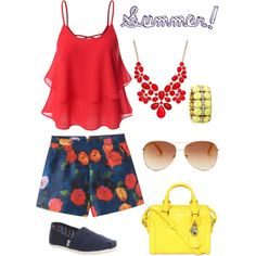 Bright poppies party look by lmtomsick on Polyvore featuring polyvore, fashion, style, TOMS, Alexander McQueen, Style & Co., J.Crew and Tommy Hilfiger