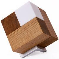 Ideal Tischleuchte Holz dimmbar mit Holz