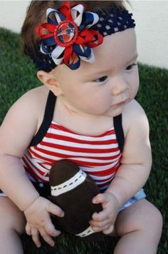 New England Patriots Inspired Bottle Cap Hair Bow and Headband