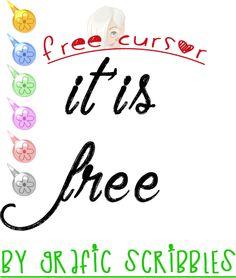 Free Floral Cursor http://graficscribbles.blogspot.it/2015/02/free-floral-cursor-cursori-mouse-puntatori.html #cursore #puntatore #mouse