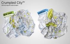 Crumpled City - Mappe della città morbide, pieghevoli e impermeabili http://mandablog.mandarinoadv.com/crumpled-city-mappe-della-citta-morbide-pieghevoli-impermeabili/ #graphic #maps