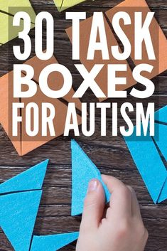 30 Task Boxes for Autism   Looking for shoebox tasks for autism to support your special needs curriculum? From developing fine motor skills, letter and number recognition, sight words, sorting, sequencing, reading, and math, these teacch tasks will help develop important life skills in early childhood, preschool, high school, and beyond. #autism #ASD #specialneedsparenting #parenting #parenting101 #autismawareness #specialeducation