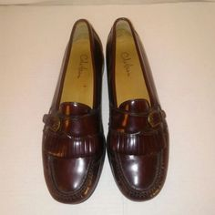 cdd37548fc40 Cole Haan Mens Burgundy Brown Slip On Penny Loafers Size. Chic Vintage  Treasures · Men s Shoes