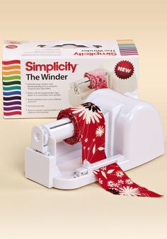 [The Winder : Sewing Machines and Appliances at Simplicity.com] 881979 The Winder The Simplicity Winder machine is a great companion to the Bias Tape Maker, winding bias tape onto a spindle as it comes off of the Bias Tape Maker. See video tab for tutorial. $37.99