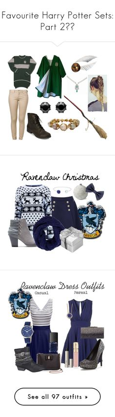 """""""Favourite Harry Potter Sets: Part 2⚡️"""" by moon-crystal-wolf ❤ liked on Polyvore featuring Forever 21, ONLY, Juicy Couture, KING, Tommy Hilfiger, Boohoo, Lands' End, Lazuli, Tory Burch and Christmas"""