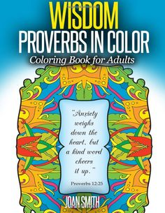 Amazon WISDOM Proverbs In Coloring Frames Lovink Book 9781517471637