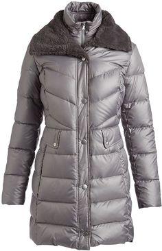 Kenneth Cole Nickel Faux-Fur Trim Down Puffer Coat