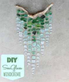 Simple and Pretty DIY Wind Chime Craft   DIY Sea Glass Wind Chime by DIY Ready at http://diyready.com/32-diy-wind-chimes/